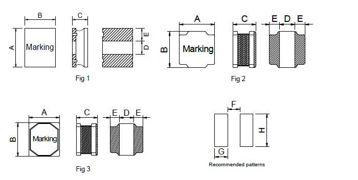 贴片功率屏蔽电感2520系列_封装尺寸图